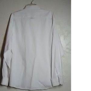 Kasper Shirts - Kasper White Pinpoint Oxford Shirt Size 17 34/35
